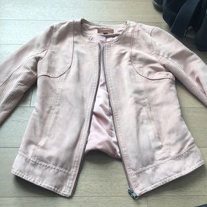Hive and Honey light pink suede jacket